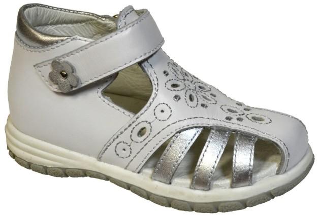 71301 белый-серебро, натуральная кожа